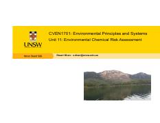 CVEN1701 - Unit 11 - Environmental Chemical Risk Assessment.pdf
