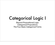 categorical logic 1