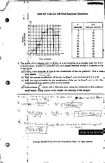 AP Calc AB questions & Answers