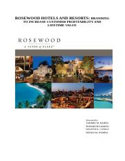 Rosewood resorts Report.docx