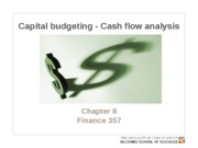 Chapter 8. Cap budgeting - Cash flow analysis