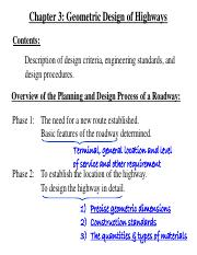 Chapter 3 Geometric Design of Highways