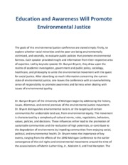 Environmental Justice (Research paper)