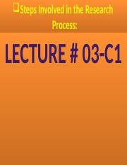 Research Methodology Steps, Lecture # 03-C1..pptx