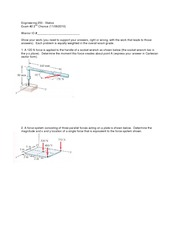 Exam 2 Version 2 Fall 2010 on Statics