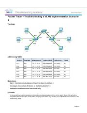 6.2.3.7 Packet Tracer - Troubleshooting a VLAN Implementation - Scenario 1 Instructions.docx