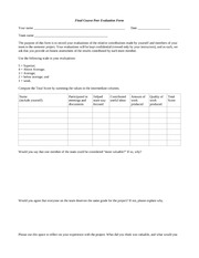 CS 307 Final Peer Evaluation Form