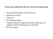 Streams Flaws Of Traditional Device Lecture Note COSC 4P13