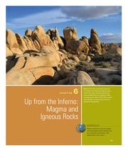 Chapter 6- Up from the Inferno Magma and Igneous Rocks