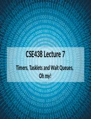 CSE438_07 - Tasklets and Wait Queues.pptx