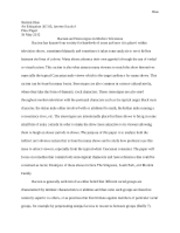 Criticizing Television Final Paper