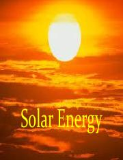 Lecture 2 - Solar Energy