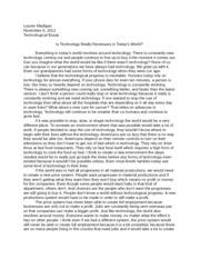 technological innovation essay