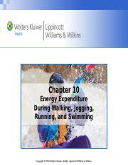 Chapter10-Energy Expenditure of Aerobic Activity