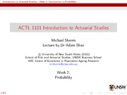 ACTL1101Week2Lecture
