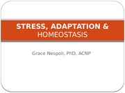 STRESS, ADAPTATION  HOMEOSTASIS