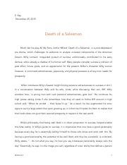 all my sons documents course hero all my sons essay module 3 death of a sman