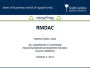 SERDC Summit Presentation - Ronnie Grant RMDAC