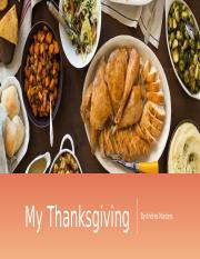 my thanksgiving