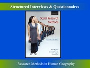 Structured Interviews and Questionnaires