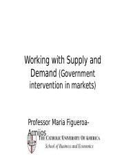 4. Working with Supply and Demand