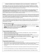 English 2 Summer 2017 Everyday Use Literary Elements, Techniques, Central Questions.doc