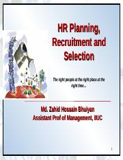 Chapter Two- HR Planning,   Recruitment and Selection(1) 25.ppt