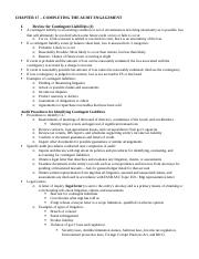 Ch 17 Outline