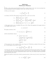 Midterm Exam 2 Solution on Theoretical Dynamics