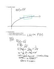 Chapter 5.5- Linearization