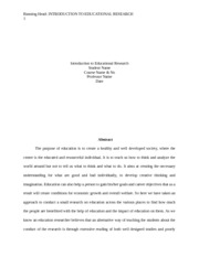 EDU 626 wEEK 6 fINAL RESEARCH PAPER