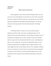 Comparing Music and Art Paper