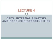 LECTURE_04_CSFs_Internal analysis_problems opportunities_