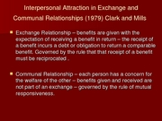Interpersonal Attraction in Exchange and Communal Relationships (