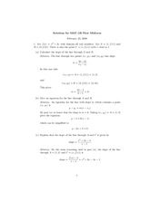 MAT 125 Midterm Exam #1 S2009 Solutions