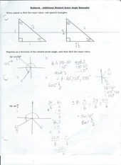 Bellwork - Additional Related Acute Angle Examples