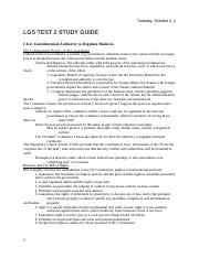 LGS Study Guide Test 2