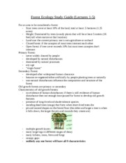 Forest Ecology Study Guide