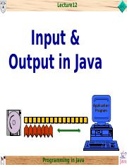 chap12_Input & Output in Java