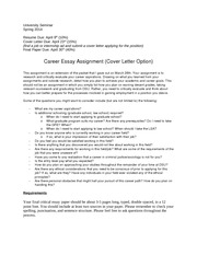 Career Essay Assignment_Cover Letter 2014