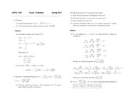 Exam 2 Solution Spring 2013 on Calculus 1 for Engineers