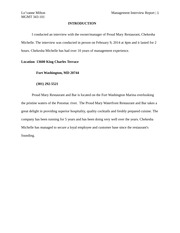 Research Paper Management Interview Report