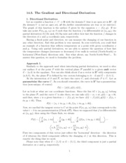 Lecture 14.5 The Gradient and Directional Derivatives