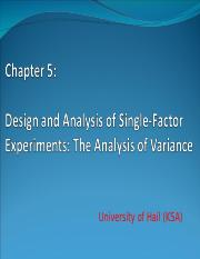 Chapter 5_ Design & Analysis of Single Factor Experiments & Variance
