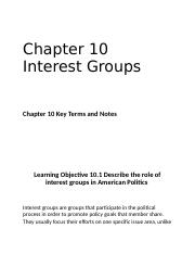 Chapter 10 Interest Groups