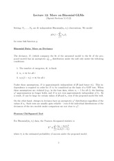 Stat 851 Binomial GLM Notes