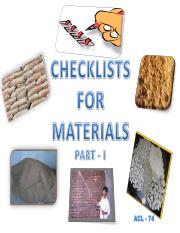3)Check List on MATERIALS Booklet 74  Part I  R2