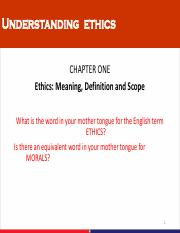 EthicsMeaning, Definition and Scope
