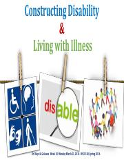 HSCI 340 Chronic Illness & Disability 2016-20 march 2016_distribution