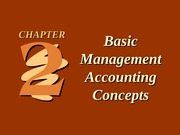 CH02 Basic Management Accounting Concepts